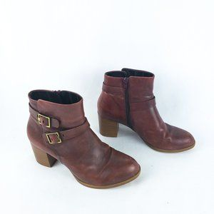 Vagabond Syrup Brown 40 Leather Booties Buckle